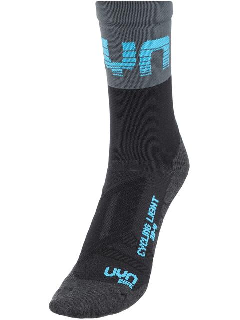 UYN Cycling Light Socks Men Black/Grey/indigo Bunting